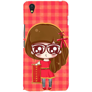 ifasho Crazy Girl Back Case Cover for One Plus X