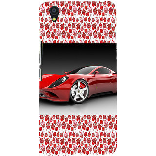ifasho Stylish RED Car Back Case Cover for One Plus X
