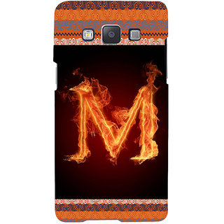 ifasho alphabet name series M Back Case Cover for Samsung Galaxy A7
