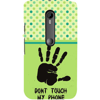 ifasho Modern Art Design  dont touch my phone with palm Back Case Cover for Moto G3