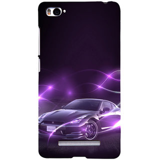 ifasho Purple car Back Case Cover for Redmi Mi4i