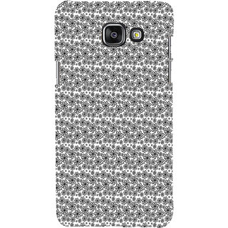 ifasho Animated Pattern black and white flower Back Case Cover for Samsung Galaxy A7 A710 (2016 Edition)
