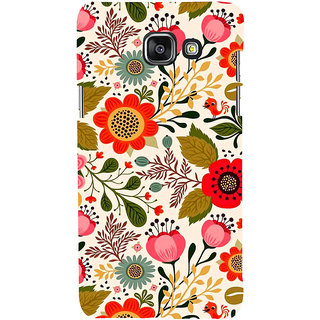 ifasho Animated Pattern colrful design flower with leaves Back Case Cover for Samsung Galaxy A5 A510 (2016 Edition)
