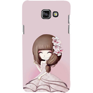 ifasho Cute Girl with Ribbon in Hair Back Case Cover for Samsung Galaxy A5 A510 (2016 Edition)