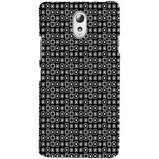 ifasho Modern Theme of black and white dots inside Square Back Case Cover for Lenovo Vibe P1M