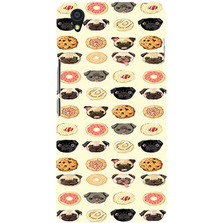 ifasho Animated Pattern dogs head and cookies Back Case Cover for One Plus X