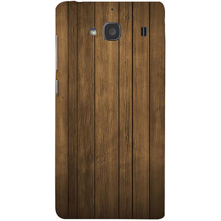 ifasho Brown Wooden Pattern Back Case Cover for Redmi 2S