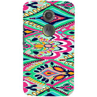 ifasho Modern Art Design animated cloth Pattern of flower Back Case Cover for Motorola MOTO X2