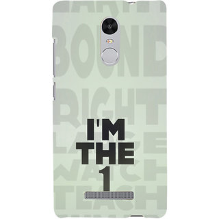 ifasho I am the one good quote on confidence Back Case Cover for REDMI Note 3