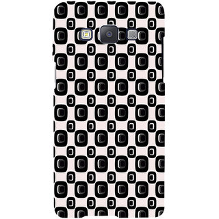 ifasho Modern Theme of black and white Squre and dots pattern Back Case Cover for Samsung Galaxy A7