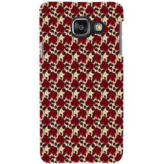 ifasho Animated Pattern rose flower with leaves Back Case Cover for Samsung Galaxy A3 A310 (2016 Edition)