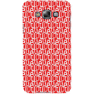 ifasho Modern Art Design Pattern with Lot Of alphabet Back Case Cover for Samsung Galaxy E7