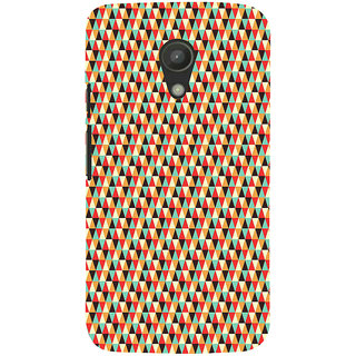 ifasho multi color 3Diangular Pattern Back Case Cover for Moto G2