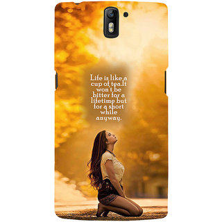 ifasho young Girl with quote Back Case Cover for One Plus One