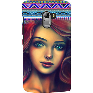 ifasho Gorgeous Winking Girl Back Case Cover for Lenovo K4 Note