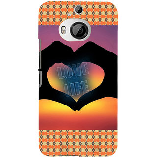 ifasho Love life heart shape made by hand  Back Case Cover for HTC ONE M9 Plus