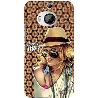 ifasho Look at me Girl Back Case Cover for HTC ONE M9 Plus