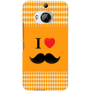 ifasho I love Moustache Back Case Cover for HTC ONE M9 Plus