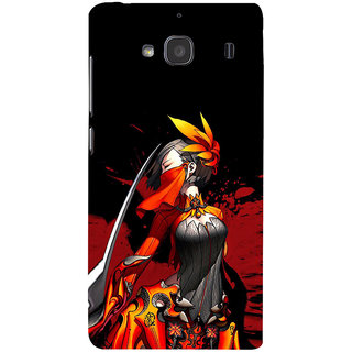 ifasho Colorful Girl animated Back Case Cover for Redmi 2S