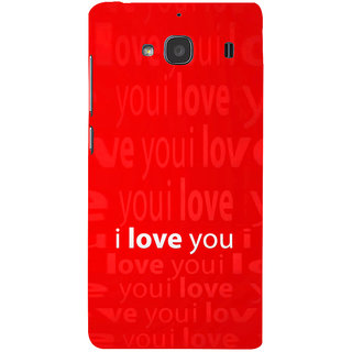 ifasho Love Quotes I love you Back Case Cover for Redmi 2S