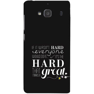 ifasho quotes on success Back Case Cover for Redmi 2S