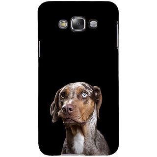 ifasho black Dog Back Case Cover for Samsung Galaxy E7