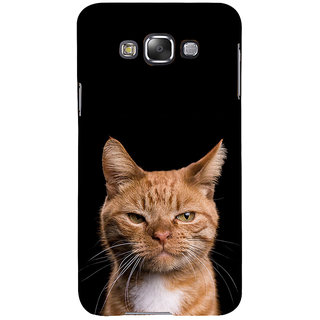 ifasho Brown cat Back Case Cover for Samsung Galaxy E7
