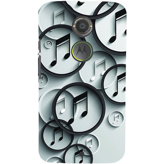 ifasho Modern Art Design Pattern Music symbol Back Case Cover for Motorola MOTO X2