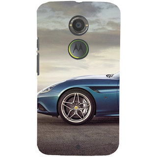 ifasho Stylish long Car wheel Back Case Cover for Motorola MOTO X2