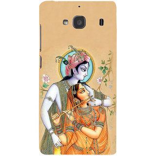 ifasho radha Krishna Back Case Cover for Redmi 2S