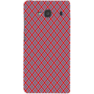 ifasho Colour Full Square Pattern Back Case Cover for Redmi 2S