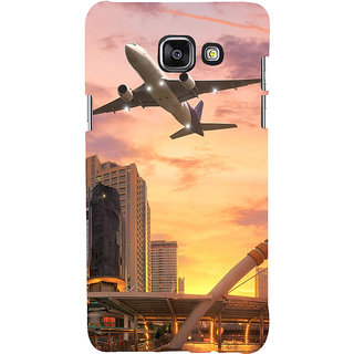 ifasho aeroPlane flying in city Back Case Cover for Samsung Galaxy A5 A510 (2016 Edition)