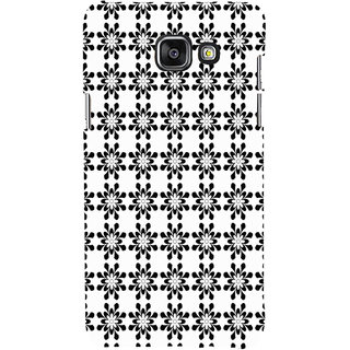 ifasho Animated Pattern design black and white flower in royal style Back Case Cover for Samsung Galaxy A7 A710 (2016 Edition)