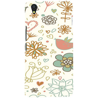 ifasho Animated Pattern colrful design cartoon flower with leaves Back Case Cover for One Plus X