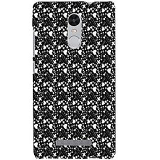 ifasho Modern Art Design Pattern with Lot Of small heart with + sign Back Case Cover for REDMI Note 3