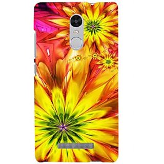ifasho Flower Design multi color Back Case Cover for REDMI Note 3