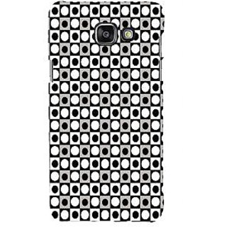 ifasho Modern Theme of black and white dots inside Square Back Case Cover for Samsung Galaxy A7 A710 (2016 Edition)
