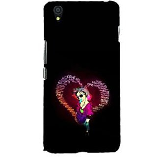 ifasho Animated Pattern With Love and heart and Ishq Back Case Cover for One Plus X