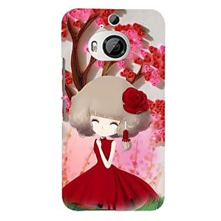 ifasho Girl  with Flower in Hair Back Case Cover for HTC ONE M9 Plus