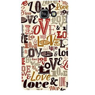 ifasho Love pattern Back Case Cover for Samsung Galaxy A5 A510 (2016 Edition)