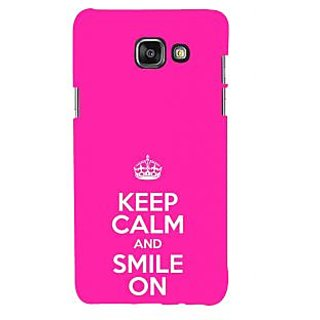 ifasho Nice Quote On Keep Calm Back Case Cover for Samsung Galaxy A5 A510 (2016 Edition)