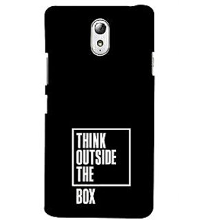 ifasho Think Out of Box Back Case Cover for Lenovo Vibe P1M
