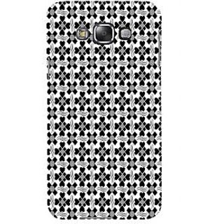 ifasho Animated Pattern design black and white flower in royal style Back Case Cover for Samsung Galaxy E7