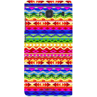 ifasho multi color 3Diangular and circle Pattern Back Case Cover for Redmi 2S