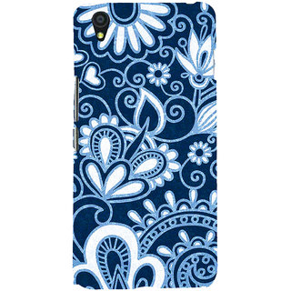 ifasho Animated Pattern design colorful flower in royal style Back Case Cover for One Plus X