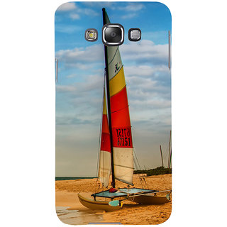 ifasho Boat in a beach Back Case Cover for Samsung Galaxy E7