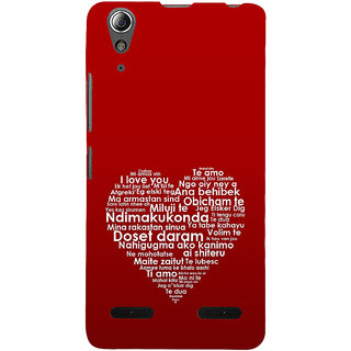 ifasho Love Quotes I love you Back Case Cover for Lenovo A6000 Plus