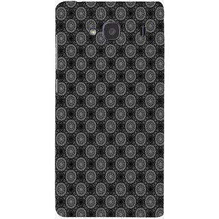 ifasho Animated Pattern design black and white flower in royal style Back Case Cover for Redmi 2S