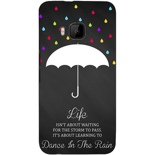 ifasho Good Quote on Rain Back Case Cover for HTC One M9