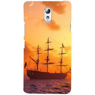 ifasho Ship in See at sunset Back Case Cover for Lenovo Vibe P1M